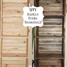 Crate Bookcase Stupendous Diy Shelves Made From Woodente Picture Concept Ces New