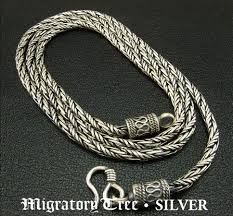 man necklace silver sterling images Tibetan handmade sterling silver necklace for men jpg