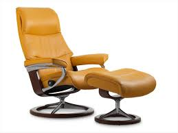 stressless view leather recliner u0026 ottoman u2014best price online