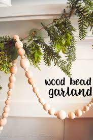 simple farmhouse decor how to make your own wood bead garland