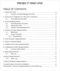 8 sample project plan template word project management executive