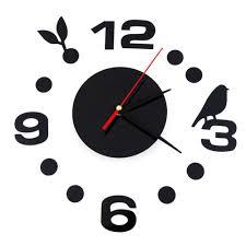 simple digits diy wall clock modern design sticker set 3d mirror