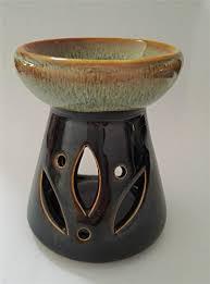 Tea Light Oil Warmer Derker Ceramic Mini Oven Oil Warmer Porcelain Tealight Trio