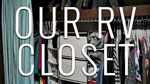 rv closet organization full time rv living youtube
