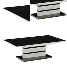 black glass lamp table arctic black and white high gloss lamp table furniture mill outlet