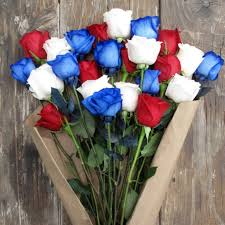 white and blue roses celebrate 4th of july with white and blue roses from thebouq