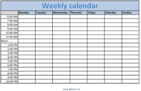 weekly calendar printable template u2013 blank calendar 2017