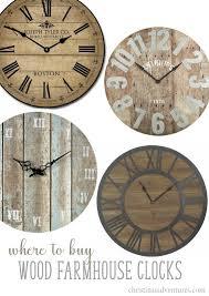 wall clocks where to buy farmhouse wall clocks christinas adventures