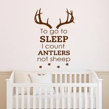 to go to sleep i count antlers not sheep wall words decal sticker