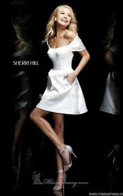 simple silk removable white cocktail dresses short party