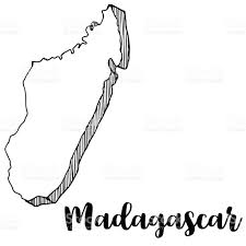 Madagascar Map Hand Drawn Of Madagascar Map Vector Illustration Stock Vector Art
