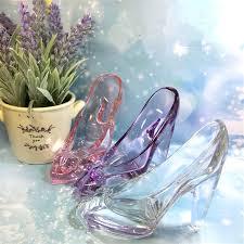 Shoe Home Decor 1pcs Lead Free Pink White Glass High Heel Shoes Home Decor