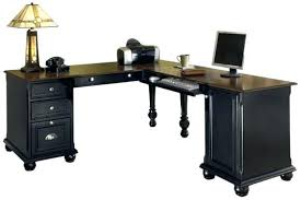 Desk L With Organizer Wood L Desk Desk Black L Desk With Monitor Shelf Black Wood L