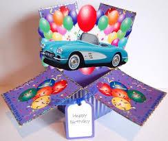 corvette birthday corvette birthday 3d popup card kit cup231628 866