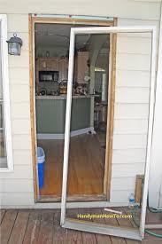 Replace Exterior Door Frame Replacing Exterior Door Frame Garage Doors Glass Doors Sliding