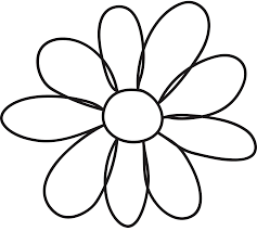 images for flower petals template in flowers to color and cut out