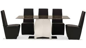 syrah marble and stainless steel dining table zuri furniture
