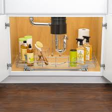 lynk chrome pull out cabinet drawers lynk lynk professional u shaped roll out under sink drawer pull