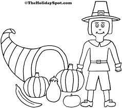 thanksgiving cornucopia coloring pages thanksgiving history coloring pages olegandreev me