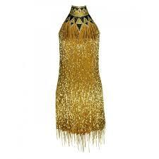 80 s rare bob mackie gold beaded fringe dress at 1stdibs