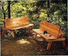 Foldable Picnic Table Bench Plans by Bench That Converts Into A Picnic Table Diy Plans For Free