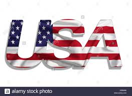 American Flag In Text Usa Flag Font Cut Out Stock Images U0026 Pictures Alamy