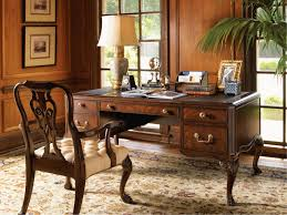 Classic Arm Chair Design Ideas Artistic Carving On Solid Maple Desk And Classic Wooden Armchair