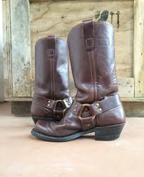 motorcycle boots harness vintage brown leather harness boots men u0027s size 7 5 d womens size 8