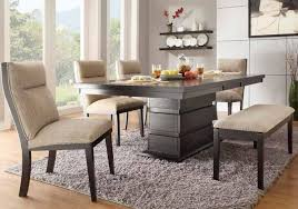 Trendy Dining Room Tables With Bench Seating Table Pythonet Home Cool Dining Room Table