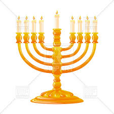 menorah candle hanukkah golden menorah with burning candles