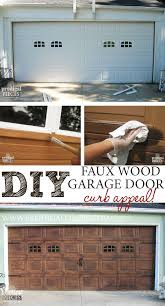 Faux Paint Garage Door - faux wood garage door paint wood grain doors painted garage door