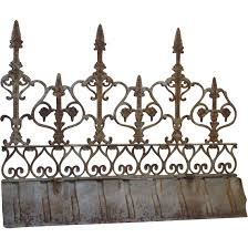 antique ornamental iron ridge cresting from frenchantique