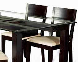 Dining Table Design With Glass Top Glass Simple Design Glass Top Dining Table Wood High Top Dining