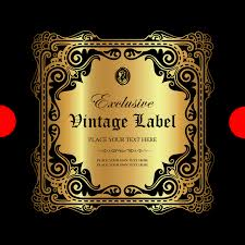 luxury ornamental gold label vector material 05 vector label