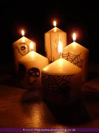 halloween candles the purple pumpkin blog