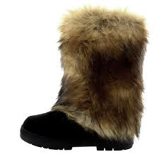 womens rabbit fur covered waterproof eskimo winter