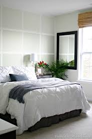 softened green in the bedroom from thrifty decor