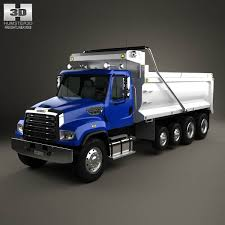 freightliner dump truck freightliner 114sd dump truck 2011 3d model hum3d