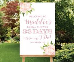 wedding wishes hashtags wedding countdown printable bridal shower welcome sign custom