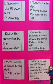 made4math converting fractions decimals and percents foldable