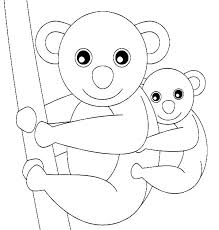 koala bear and her baby coloring page color luna