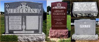 headstones grave markers markowitz monuments ny and nj hebrew granite headstones