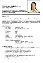 exle of nursing resume resume sle philippines simple resume ixiplay free resume sles