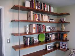 floating mid century modern wall shelves new mid century home