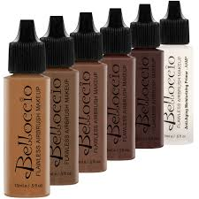 belloccio foundation dark set dark 5 color kit primer