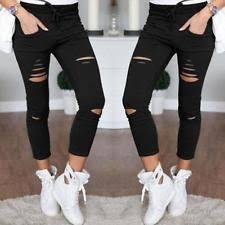 Plus Size Ripped Leggings Plus Size Leggings For Women Ebay