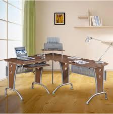 Glass L Shaped Computer Desk Staggering Z Line Computer Desk Images Ideas Cute Blaire Glass L