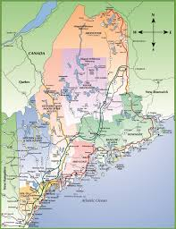 map of maine cities map of maine coast