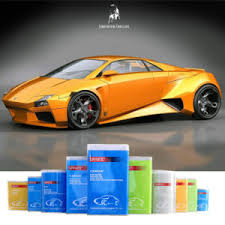 china auto refinish 2k orange yellow solid color spray paint