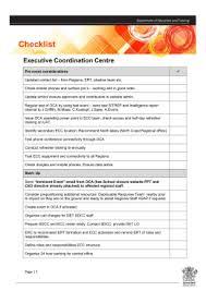 emergency response plan template executive